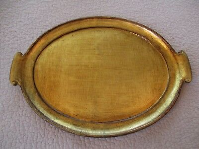 Vintage Florentine Gold Gilt Italy Tray Vietri Hollywood Regency French Country