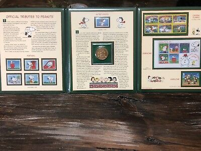 Rare Official Tribute To Peanuts Postal Commemorative Snoopy Charles Schulz Coin