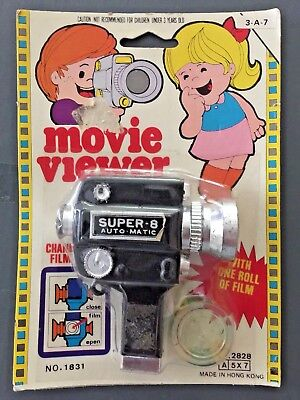 """1960's Super-8 Auto-Matic Movie Camera Viewer Toy """"With Film"""" Unopened Pack"""