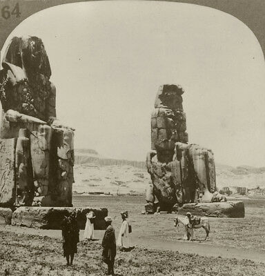 Keystone Stereoview Memnon Statues, Thebes, Egypt 1920's RARE Egypt 100 Card Set