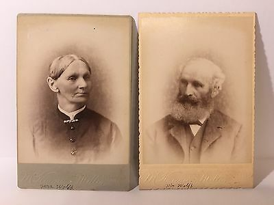 Original Antique Cabinet Card Photo Mr and Mrs Wolff