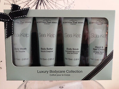 Scottish fine soaps Sea Kelp Luxury Bodycare 4 Piece Collection for Body & hands