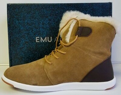 7d48886984e EMU Australia Womens Casual Boots Winton Cow Suede Chestnut Chocolate Size 9
