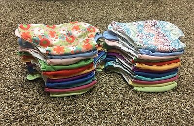 Bum Genius Diapers- 4.0 Pocket Lot Of 24 Gently Used Cloth Diapers