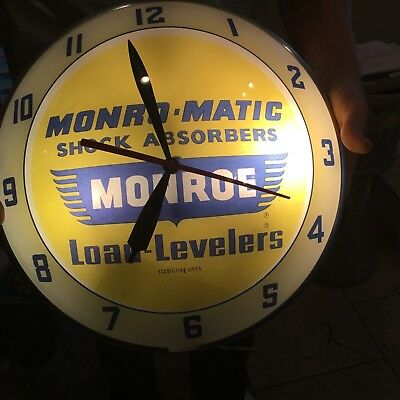 Vintage Double Bubble Monro-Magic Shock Absorbers Clock - All Original - Works G