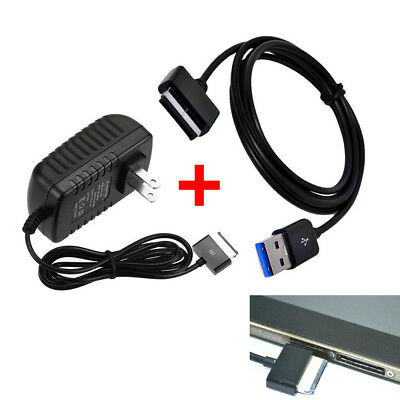 AC Charger &USB Data Cable For Asus Eee Pad Transformer TF201 TF101 TF700 Tablet