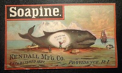 graphic  Victorian  trade card advertising Soapine
