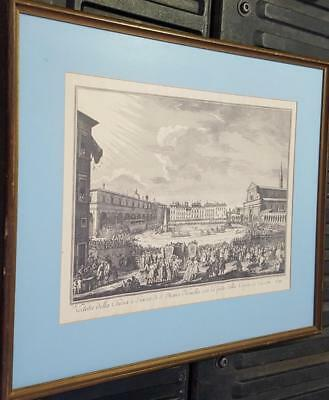 Beautiful Antique Etching Lithograph Print - NICE FRAME - GORGEOUS ANTIQUE PIECE