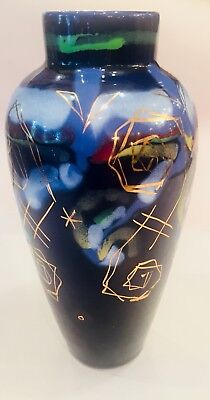 Gouda High Gloss Vase Hand Painted Goedewaagen