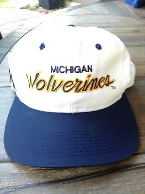 Vintage Sports Specialties Michigan Wolverines Double Script Snapback Hat c5b757a17dc0