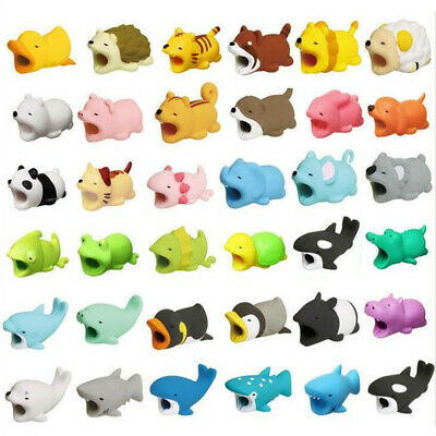 Cute Animal Bite USB Charger Cable Protector For IOS Android Samsung HUAWEI NEW
