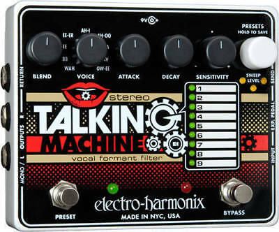 EHX Electro-Harmonix Stereo Talking Machine Vocal Guitar Effects Pedal