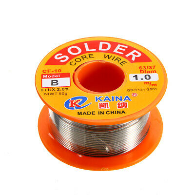 1.0mm 50g 63/37 Rosin Core Solder Tin Lead Flux 2% Soldering Welding Iron Wire