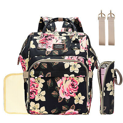 Mummy Maternity Diaper Bag Backpack Large Baby Nappy bags + Stroller Hooks