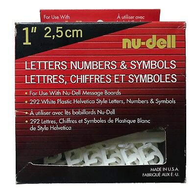 "Nu-Dell Make A Sign Plastic Push In 1"" Letters Numbers and Symbols"