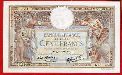 (Ref: X.650)  100 FRANCS LUC OLIVIER MERSON 30/03/1939 (SUP+)