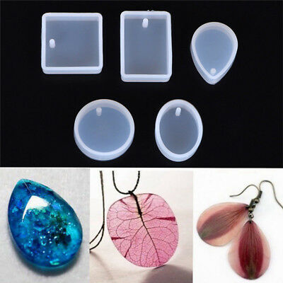 5pcs/set DIY Silicone Mould Craft Mold For Resin Necklace Pendant Jewelry Making