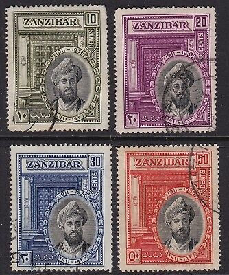 Zanzibar 1936 set of 4 S.G.323-6 used
