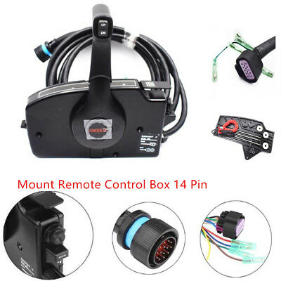 Newly Mercury Outboard Engine Side Mount Remote Control Box 14 Pin For Sale