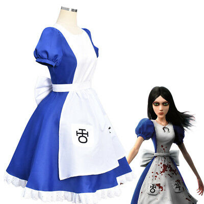 Alice Madness Returns Princess Dress Maid Fancy Dress Cosplay Costume Halloween