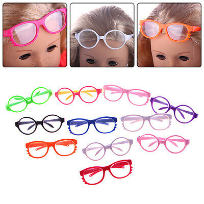 Nice Handmade Doll Girl Glasses For 18 Inch Doll Toy Clothes Color Random