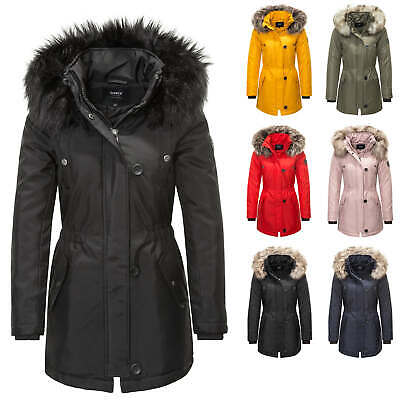Only Damen Parka Winterjacke Kurzmantel Kapuzenjacke Wintermantel Parker Outdoor