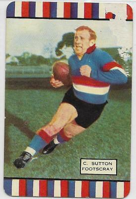 1954 Coles Series 1 Charlie SUTTON Footscray #