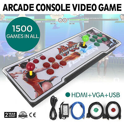 1500 in 1 Pandora Box 9s Retro Video Games Arcade Console Double Stick Light US
