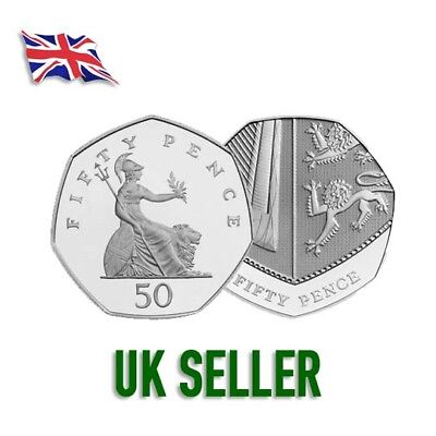 Britannia - Shield of the Royal Arms 50p Coins Complete your collection UKSeller