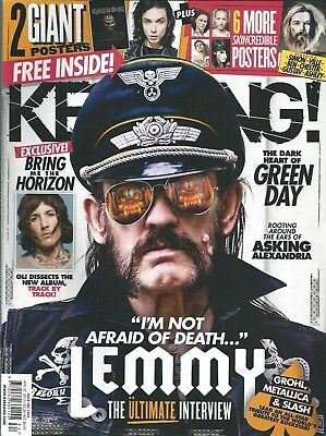 KERRANG! #1582 AUG 2015: LEMMY Motorhead IRON MAIDEN Ghost BLACK VEIL BRIDES