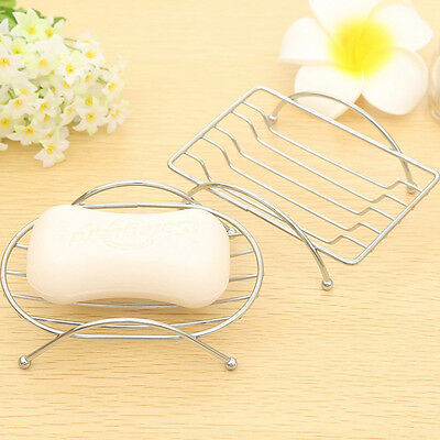 1 Piece Brief Stainless Steel Bathroom Soap Dishes Box Holder Tray Case Nice