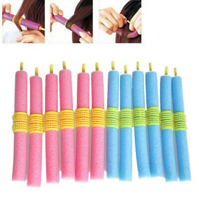 12PCS Curl DIY Hair Curlers Tool Styling Rollers Spiral Circle Magic Roller AL42