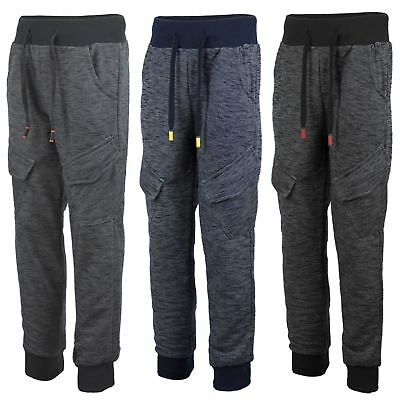 Kids Marl Print Teens Tracksuit Bottoms Girls Joggers Boys Sweatpants 3-14Y