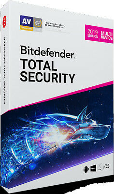 Bitdefender Total Security 2019 1 Device - 1 Year Activation Download Link
