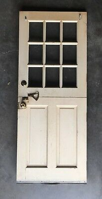 Vtg Solid Wood Dutch Door 9 Lite 79x32 Shabby Cottage Exterior Entry 480-18E