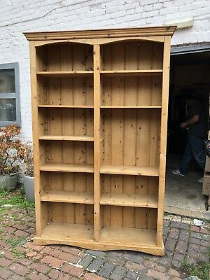 Early 20th Century Large Pine Bookcas