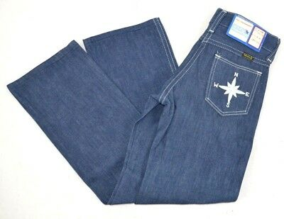 Vintage Maverick Boys Dark Blue Jeans w/ COMPASS on Pocket 6 Slim