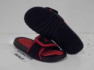 timeless design 3723c a0442 NIKE AIR JORDAN Hydro 2 (GS) Slides Youth Sz 6Y Black Red 313194 013 NEW