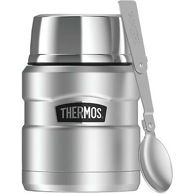 Stainless King Vacuum-Insulated Food Jar With Folding Spoon by Thermos