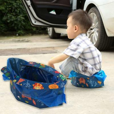 Toilet for Kids - 4 Times, Travel Potty Seat Folding Portable Hygienic Instant