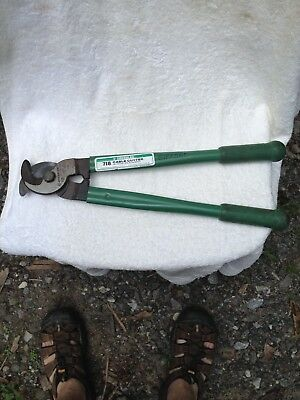 Greenlee 718 Cable Cutter Tool - Made in USA