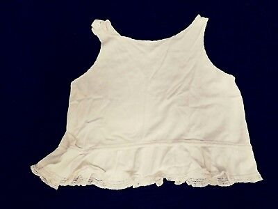 Vintage Child's Infant's Slip Lace Trim Ivory Colored