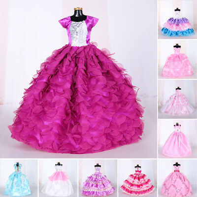 Gift Wedding Dress For Barbie Doll Princess Long Dresses Doll Clothes For Barbie