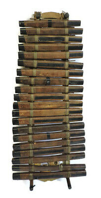 """Large 42"""" African Hand Carved Wood Xylophone 20 Note Balafon"""