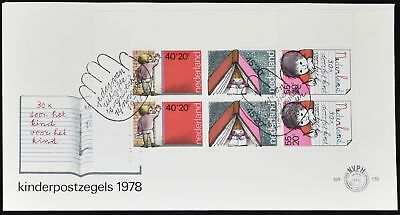 Netherlands 1978 Child Welfare M/S FDC First Day Cover #C49148