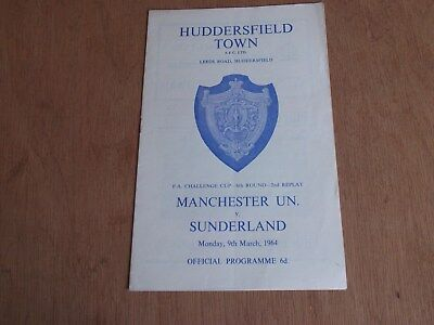 F.A.Cup 6th Round 2nd Replay 9.3.1964 MAN UTD v SUNDERLAND