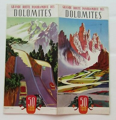 Travel Brochure For Grande Route Dolomites, Italy 1959 Illustrated w/ Great View