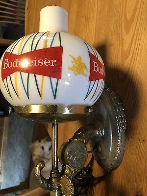 Anheuser-busch budweiser wall sconce light collectible vintage advertising