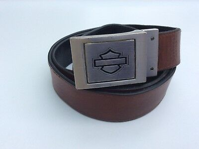 Harley Leather Belt And Buckle.