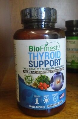 Biofinest Thyroid Support Complex with Iodine - Supplement B12, Selenium